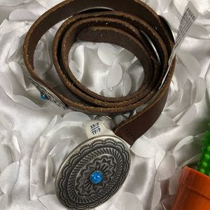 AEO Leather Belt with turquoise